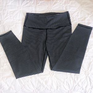 GapFit Black and White Striped Leggings
